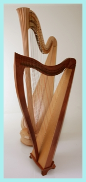 Pedal and lever harps