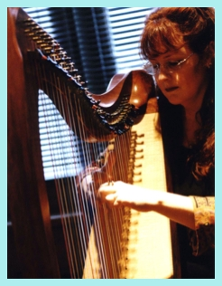 Playing the lever harp